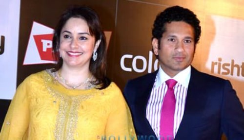 Sachin Tendulkar and Wife