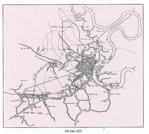 Saigon Map 1815